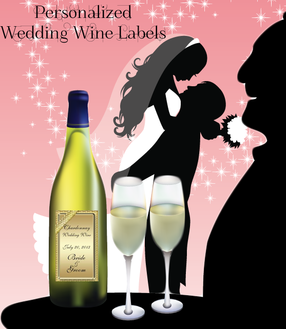 Elegant  and Casual wedding wine labels you personalize