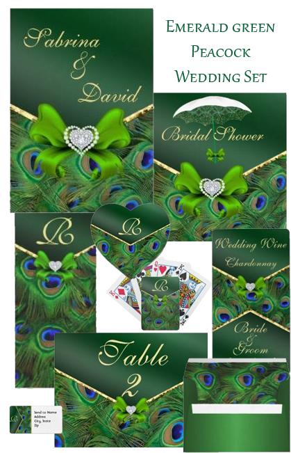Trendy wedding stationery