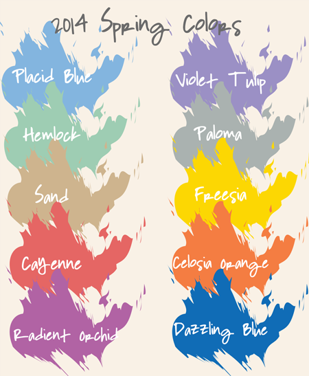 2014 Pantone Spring Colors