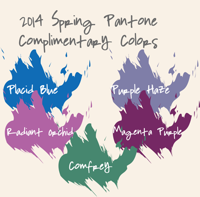 2014 Spring Pantone Complimentary Colors