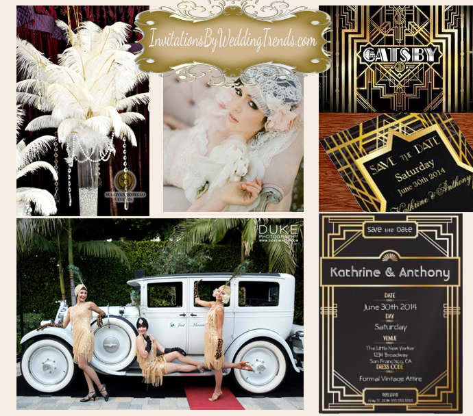 Great Gatsby Wedding Collage