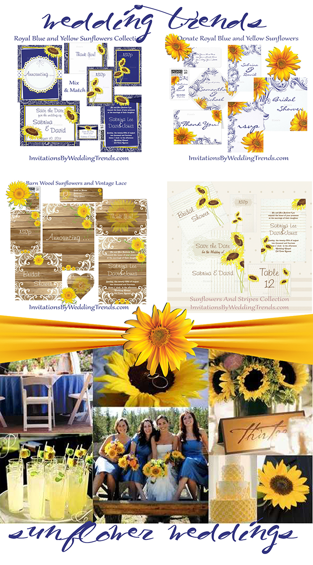 wedding trends sunflower weddings products